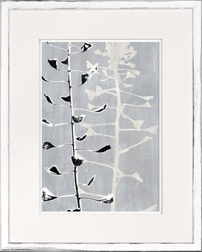Picture of Botanical Overlay - Grey III - Small