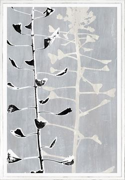 Picture of Botanical Overlay - Grey III - Large