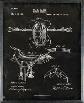 Picture of Patent - Riding Saddle Oct. 6, 1896  Small