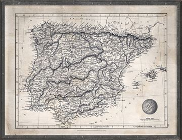 Picture of Map Arrowsmith, Spain & Portugal 1825