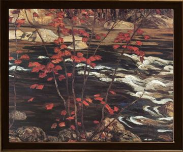 Picture of The Red Maple - Framed on Board