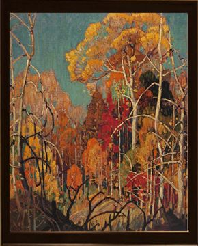 Picture of Autumn Orillia - 1924 - Framed on Board