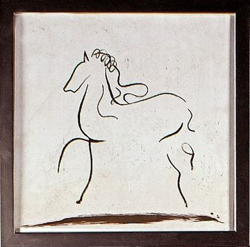 Picture of Horse Gesture I  - Framed on Board
