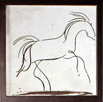 Picture of Horse Gesture II  - Framed on Board