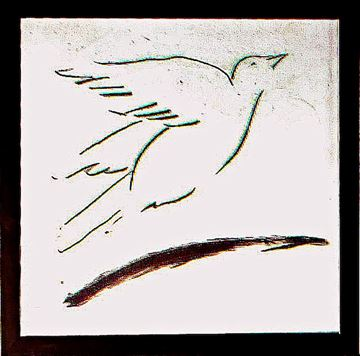 Picture of Bird Line II  - Framed on Board