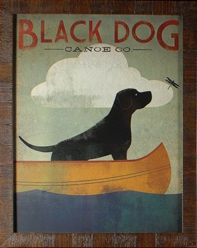 Picture of Black Dog, Canoe - New