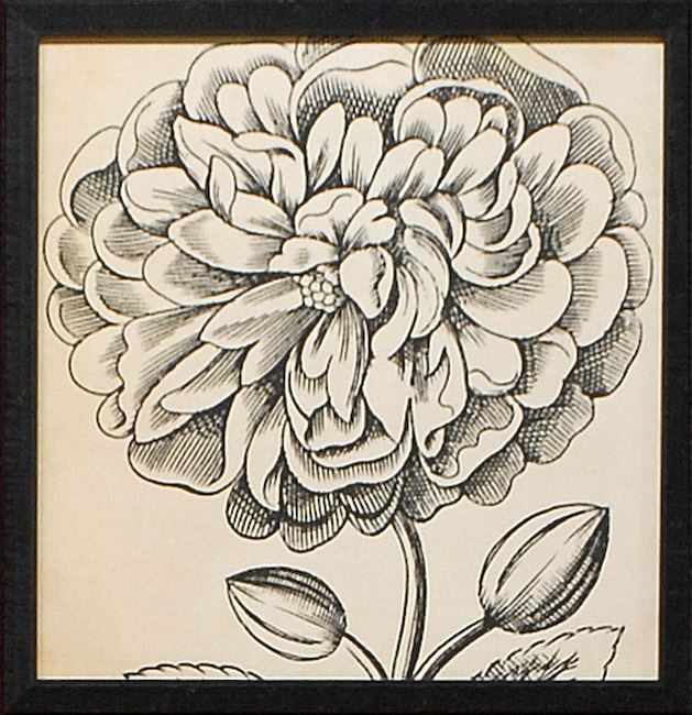 Picture of Graphic Floral V