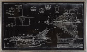 Picture of Blueprint - Avro Arrow - Black