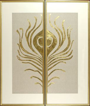 Picture of Gilded Eye Diptych