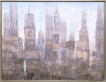 Picture of City Midst III - Framed Canvas