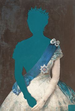 Picture of Queen In Teal  - Gallery Wrap Canvas
