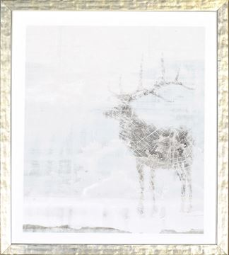Picture of Deer Silhouettes - Taupe III