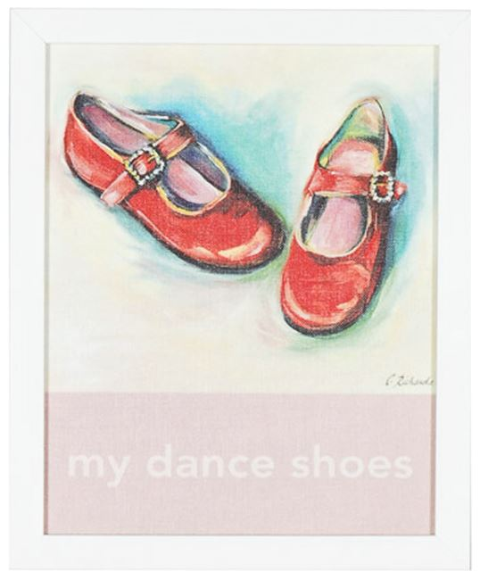 Picture of Kids - My Dance Shoes - Framed on Board