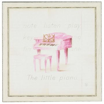 Picture of Kids - Little Piano - Framed on Board