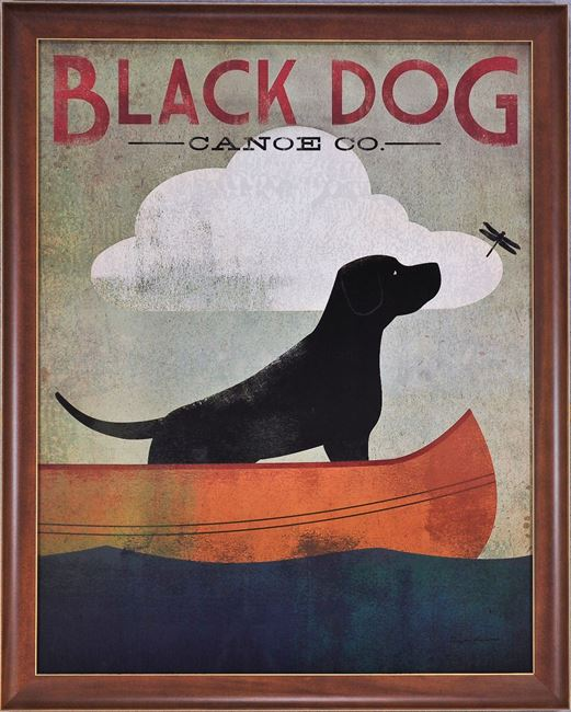 Picture of Black Dog - Canoe