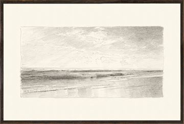 Picture of Richards - Folio, Graphite Seascape III - 1870