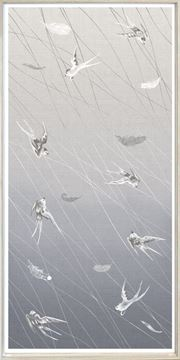 Picture of Swallows At Play Panel I