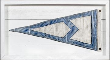 Picture of Yachting Burgee - Blue Diamond