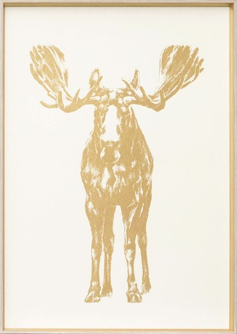 Picture of Standing Moose - Gold Foil