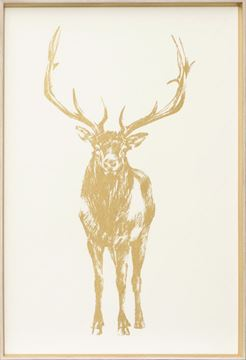 Picture of Standing Elk - Gold Foil