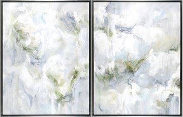 Picture of Lichen Dreams - Diptych - Framed Canvas