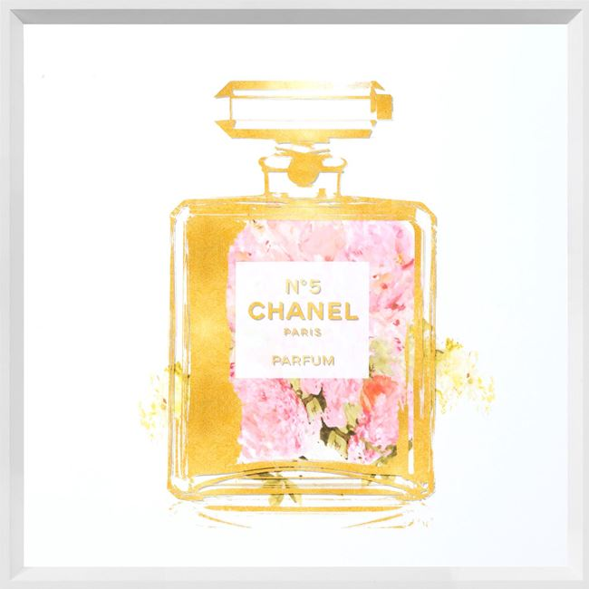 Picture of Perfume with Pink Flowers