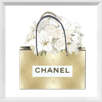 Picture of Gold Bag with Floral Bouquet