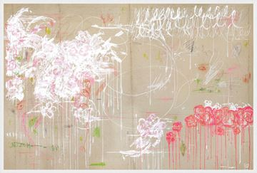Picture of The Twombly Affair - Framed Canvas