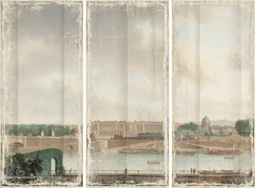 Picture of View From The Batavian Embassy Paris, 1801 - Gallery Wrap Canvas Triptych