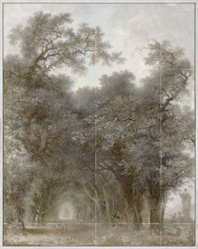 Picture of Fragonard - A Shaded Avenue - Framed Canvas