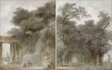 Picture of Fragonard - Diptych - Mid Gallery Wrap Canvas