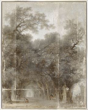 Picture of Fragonard - A Shaded Avenue - Framed Canvas (B)