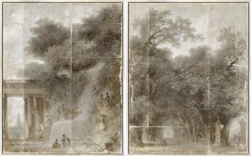 Picture of Fragonard - Diptych - Mid Framed Canvas (B)