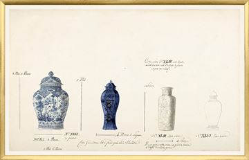 Picture of 18th Century Vase Design I - Cobalt - Large