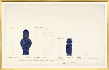 Picture of 18th Century Vase Design II - Cobalt - Large