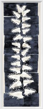 Picture of Tall Frond II - Indigo and Cream