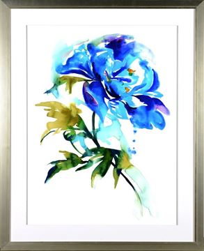 Picture of Floral Study In Blue I