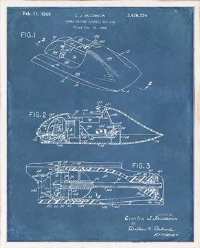 Picture of Patent - Power Driven Aquatic Vehicle