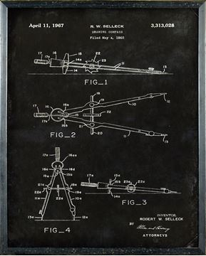 Picture of Patent - Drawing Compass Small