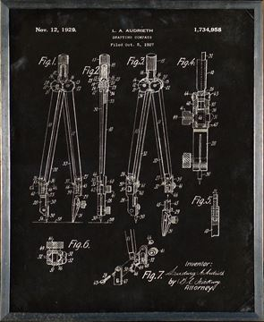 Picture of Patent - Drafting Compass Small