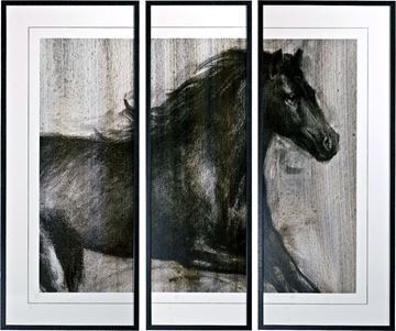 Picture of Dynamic Stallion I Triptych
