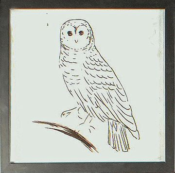 Picture of Owl Line I  - Framed on Board