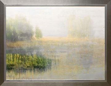Picture of Morning Mist - Framed On Board