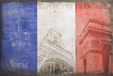 Picture of Flag-France Silhouette Lge  - Gallery Wrap Canvas