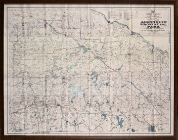 Picture of 1958 Map Of Algonquin Park