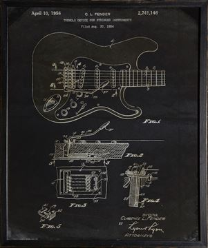 Picture of Fender Patent, 1954