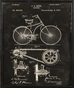 Picture of Bicycle Patent, 1890