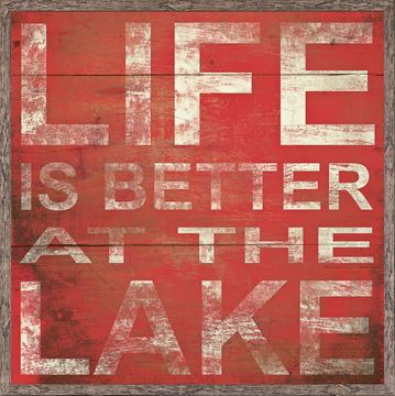 Picture of Life Is Better At The Lake - Red