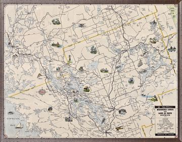 Picture of Esso - Muskoka Travel Map - 1949