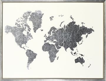 Picture of Silver Foil World Map